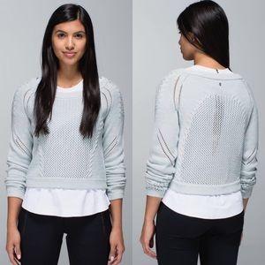 Lululemon 'Be Present Pullover' White/Pink/Aqua-12